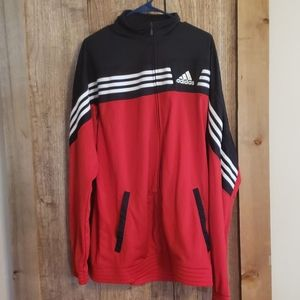 Red and black Adidas Track Jacket